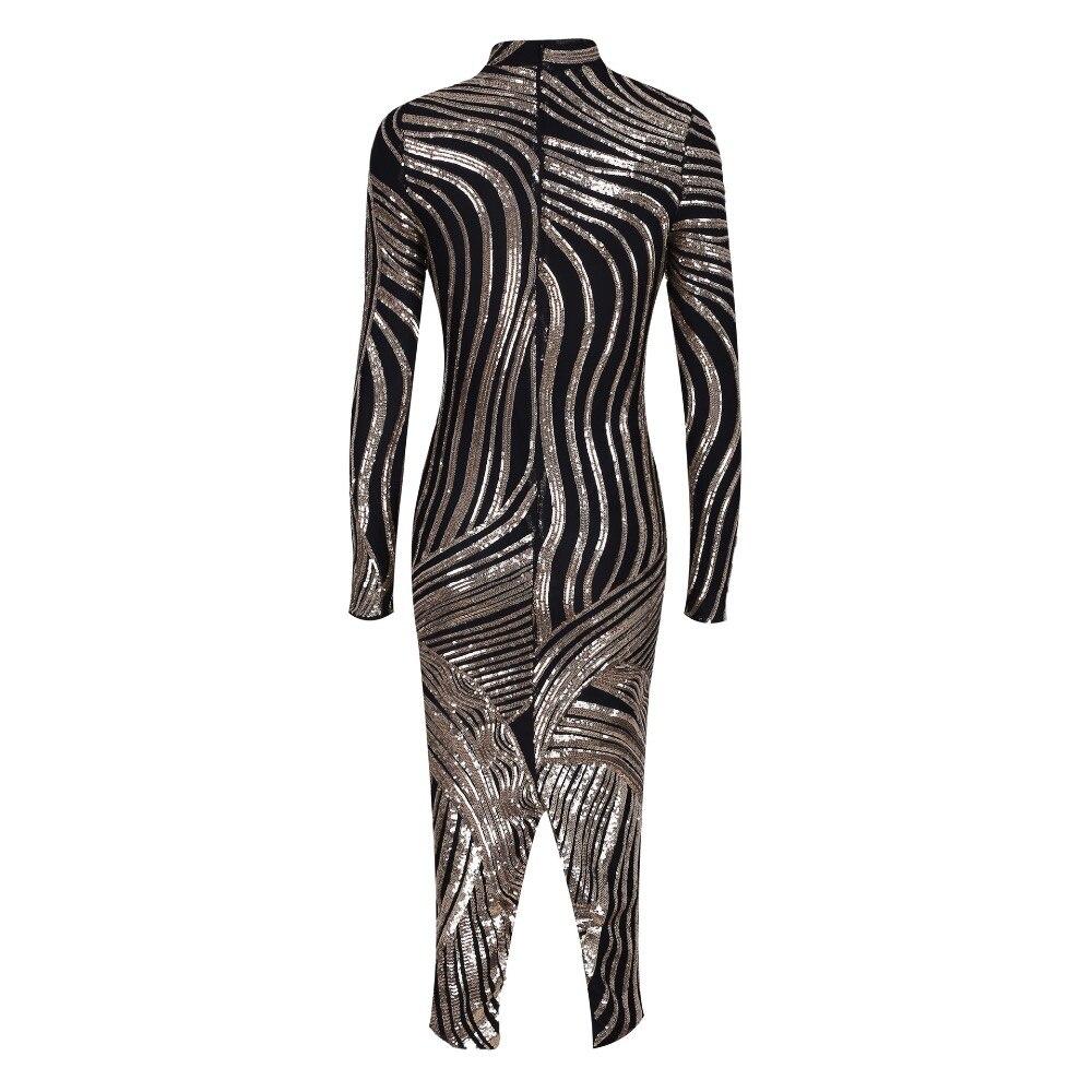 Gros Club Paillettes Con Night Nouveau Or Femmes Automne Celebrity Corps Noir 2018 Robes De En Style Mode Luxe Sexy reBCodxW