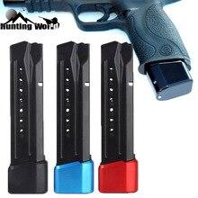 Táctico aluminio CNC Mag revista Base de extensión Pad kit encaja pistola Smith & Wesson M & P + 5/6 9/40 para la caza de
