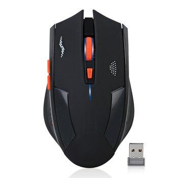 Перезаряжаемая беспроводная мышь 2,4 dг Pi 2400g USB Лазерная игровая мышь тишина Встроенная литиевая батарея для ноутбука компьютер геймер мышь