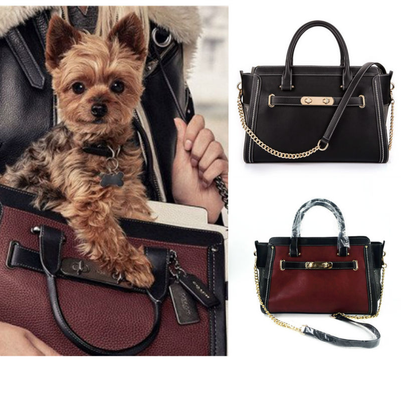 Designer Leather Dog Carrier Carrying Bags For Small Dogs Cat Travel