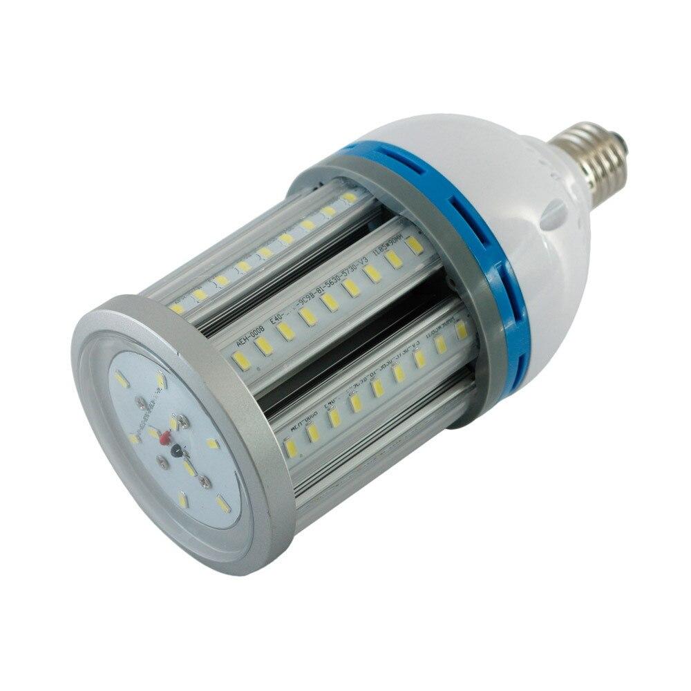 จัดส่งฟรีที่มีคุณภาพสูงE27 E40 27วัตต์Ledข้าวโพดโคมไฟSMD5730 85-265V AC 2700-6500พันอุณหภูมิสีเต็มอลูมิเนียมวัสดุ