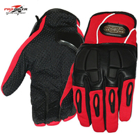 Free Shipping Pro Biker Motorcycle Riding Bikes Gloves Racing Gloves Black Red Blue MCS 22