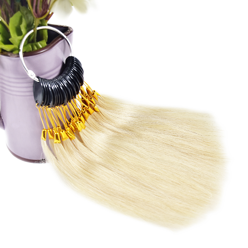 5 Sets,30pcs/set 100% Human Virgin Hair Color Ring For Human Hair Extensions And Salon Hair Dyeing Sample,Can Be Dye Any Color