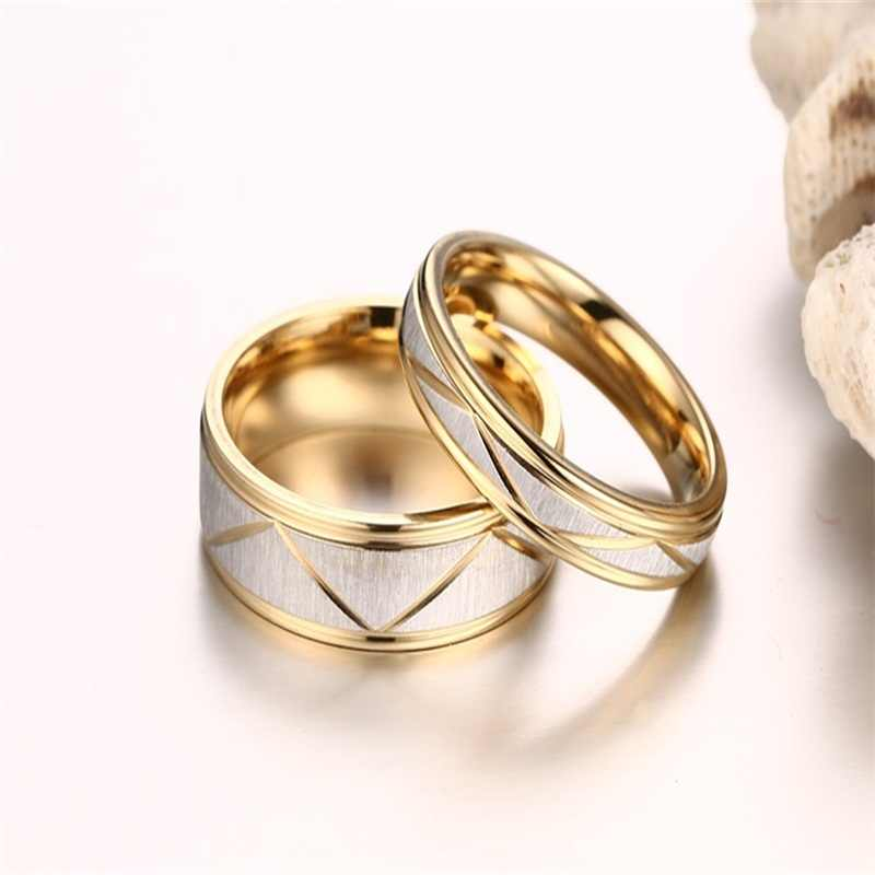 1b7fc25b34 ... V.YA Couple Customized Gold Rings Stainless Steel Engraved Rings New  Style DIY Name Rings ...