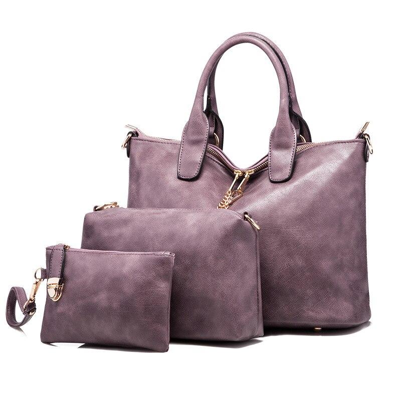 New Women Fashion Handbags Leather Messenger Bags Ladies Brand DesignsFamous Bags Handbag+Purse+Messenger Bag 3 Sets 2016 new fashion style european fashion leather handbags brand design women ladies messenger bags tide for work bh1363