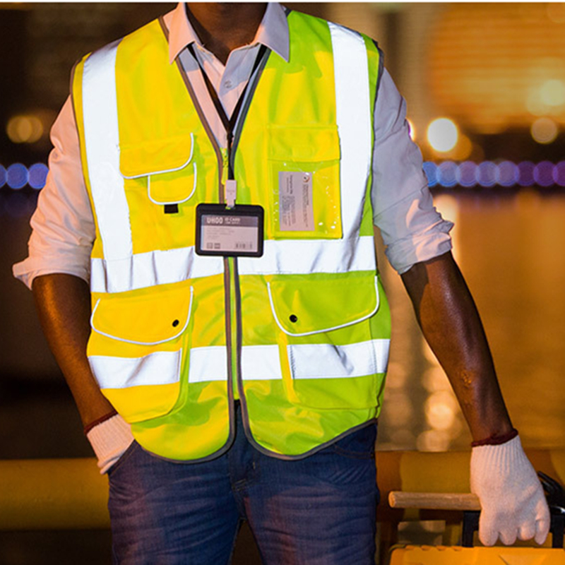 FGHGF Unisex High Visibility Reflective Multi Pockets Construction Safety Vest Working Clothes Outdoor Safety Clothing high visibility safety clothes