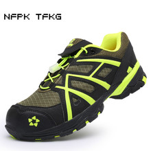 high quality mens casual big size breathable steel toe caps work safety summer shoes mesh light low tooling boots protect lace
