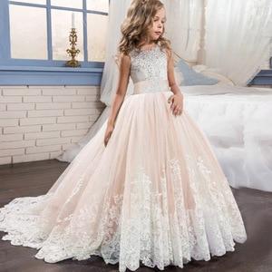 Image 3 - Elegant Kids Girls Princess Dress Flower Girls Wedding Dresses For Girls Birthday Children Evening Party Dress Vestido 4 14 Year