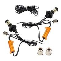 LED Car Turn Signal Light 1156 1014 60 SMD 2PCs Set Super Bright Auto Front Turn