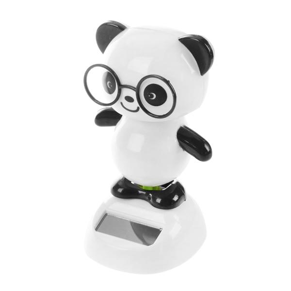 MACH Solar Power Dancing Figures Panda,Novelty Desk Car Toy Ornament