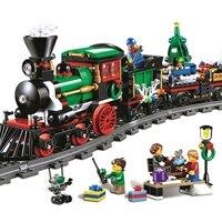 Lepin 36001 770Pcs Creative Series The Christmas Winter Holiday Train Set Children Educational Building Blocks Bricks