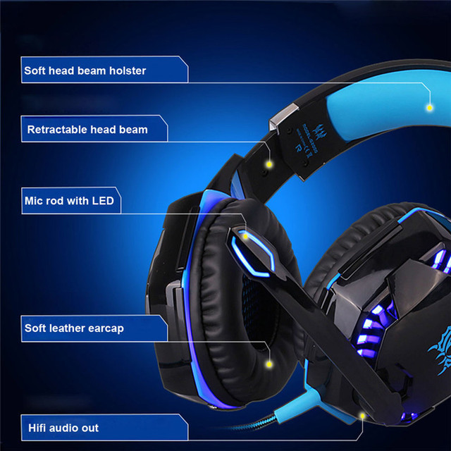 PC Gamer Stereo Hifi Gaming Headphones With Microphone 4