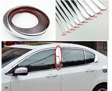 Bande autocollante de décoration chromée pour voiture, bande autocollante pour garniture intérieure et extérieure, 6mm/8mm/10mm/15mm/20mm/22mm/25mm/30mm
