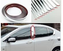 Car Chrome Decor Strip Sticker Silver Auto Styling Trim Strip Interior Exterior Decoration 6mm/8mm/10mm/15mm/20mm/22mm/25mm/30mm