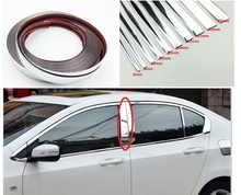 Pegatina de tira de decoración cromada para coche, tira embellecedora de diseño automático plateada, decoración Interior Exterior de 6mm/8mm/10mm/15mm/20mm/22mm/25mm/30mm