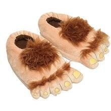 Hobbit Große Füße Hausschuhe Kreative Retro Savage Hause Schuhe Baumwolle Plüsch Winter Hause Frau Mann Slipper Nette Hausschuhe