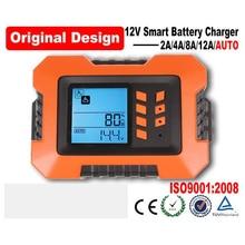 2A/4A/8A/12A hoher-intelligente digitalanzeige auto motorrad ladegerät 12 V batterie Smart ladegerät