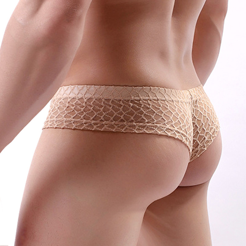 Pouch Underpants Mini Boxer Transparent Sexy Lace Men Calzoncillo Mesh Sous Homme Vetement