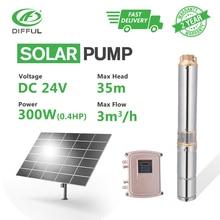 цена на 3 DC Deep Well Solar Water Pump 24V 300W Submersible MPPT Controller Bore Hole Irrigation Kits (Head 35m, 3000L/H)