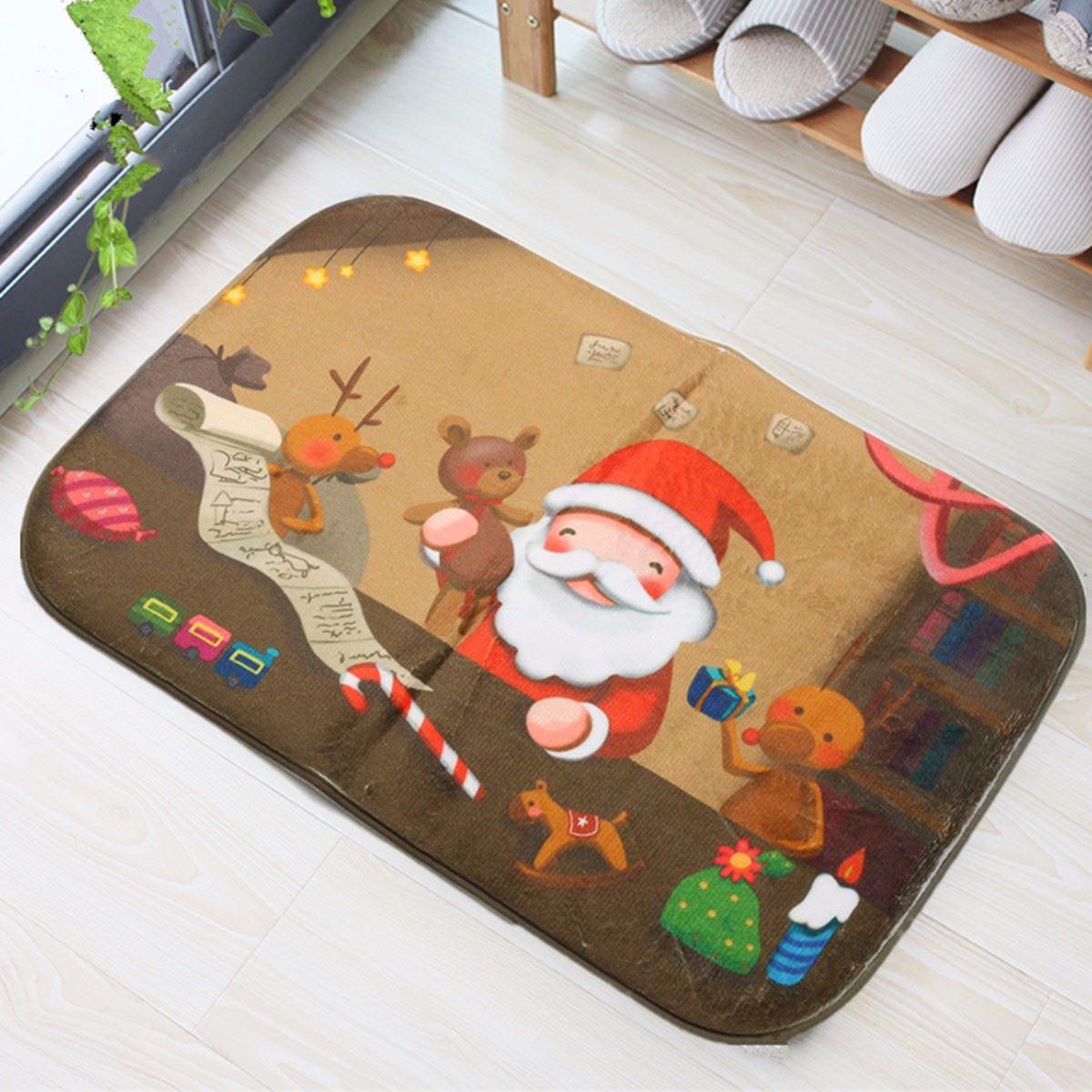 Weihnachtsmann Elch Teppich Weihnachts Teppich Festival Dekorative ...