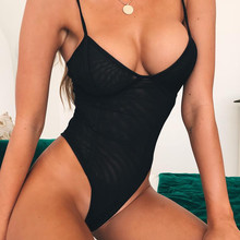 Сексуальный черный сдельный купальник, женский купальный костюм, бразильские стринги, бикини,, пуш-ап, бандажный купальник, Женский Монокини, Новинка