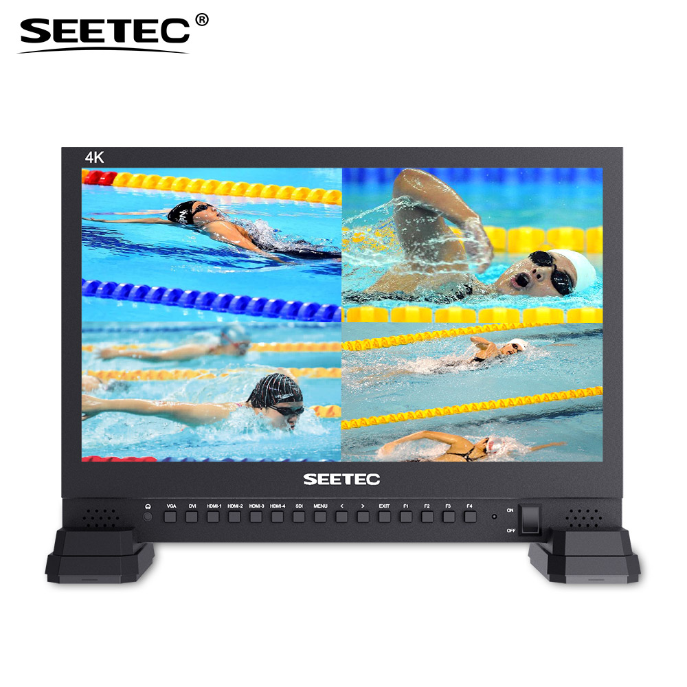 Seetec 4K156-9HSD-384 15.6 Inch IPS UHD 3840x2160 4K Broadcast Monitor with 3G-SDI HDMIx4 Quad Split Display Director Monitor buy uhd monitor