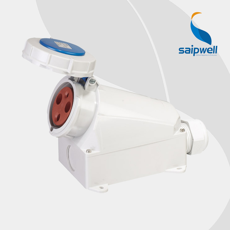 *IP67*  3Poles 63A  230V   Waterproof  Electrical Industrial Socket /  Electric Surface Mounted  Socket   (SP-128 ) 63a 3pin 220 240v industrial waterproof hidden oblique socket waterproof grade ip67 sf 433