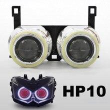 KT Reflektorów Nadaje Się do Kawasaki Z1000 2010-2013 LED Angel Eyes Czerwony Demon Eyes bi-ksenonowe HID Motocyklowe projektor Obiektywu 11 2012