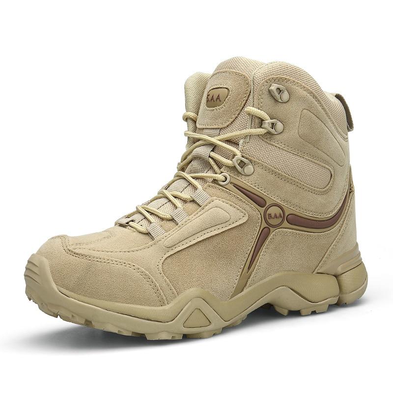 Aggressiv Lefoche Männer Leichte Taktische Stiefel Durable Atmungsaktive Schuh Für Wandern Laufen Wüste Armee Arbeit Schuhe Leder Schnee Stiefel