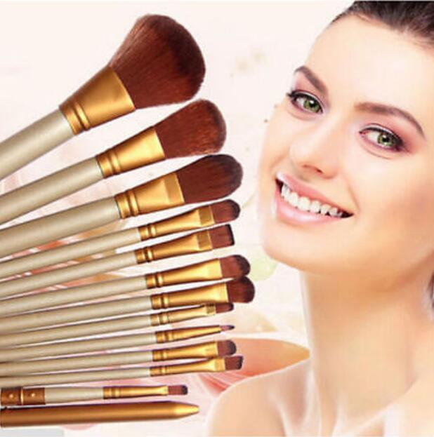 12Pcs / set Pro Fashion Synthetic Kabuki Makeup Brushes Set beauty Cosmetics Foundation blending blush make-up Tool BO