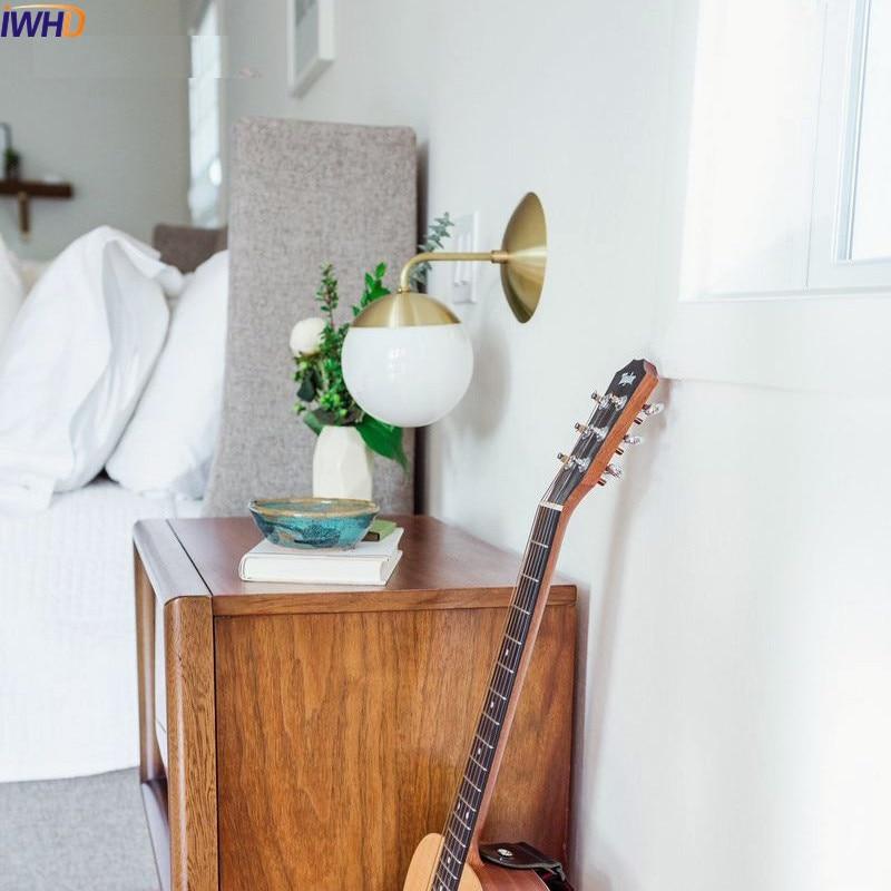Image 5 - IWHD nórdica moderna lámpara de pared led comedor luz para espejo de baño de latón vidrio cobre pared bola luces accesorios Wandlamp luminarialed wall lampwall light fixturemodern led wall lamp -