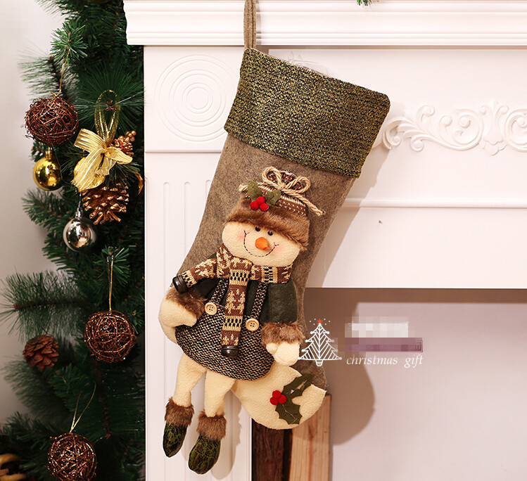 Unique Christmas Stockings Christmas Decorations Christmas Socks Gift Bags  Christmas Tree Ornaments Pendants Children Gift Bags In Christmas From Home  ...
