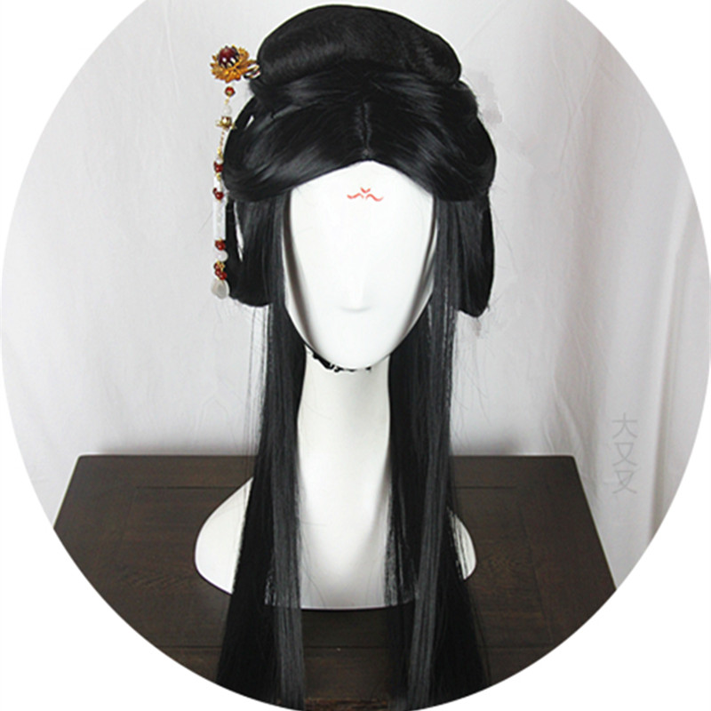 80cm shaped princess hair products without hair flower han dynasty hair princess party supplies masquerade party