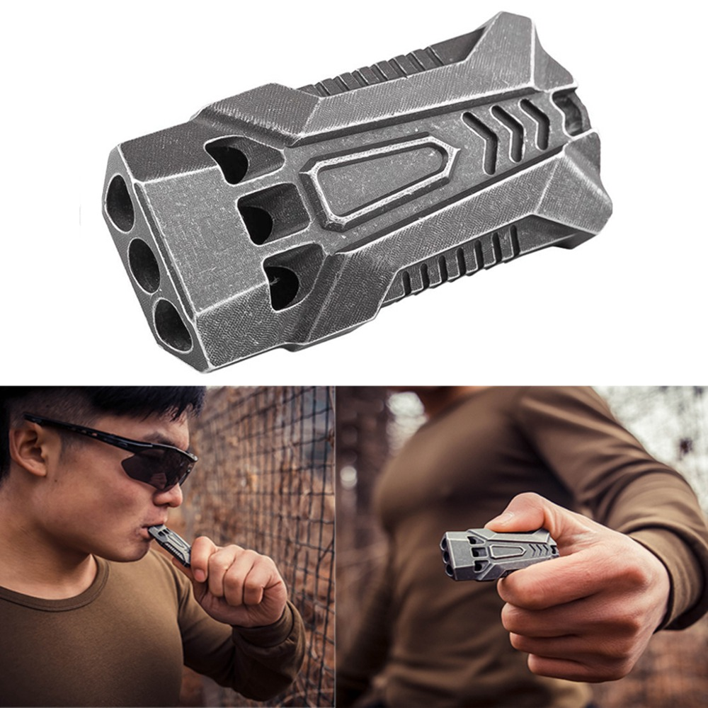 High Quality120db EDC Emergency Aluminum Whistle Camping Survival Keychain Kit for Outdoor Activities Pesonal Safe Security outdoor survival aluminum alloy whistle w keychain black 5 pcs