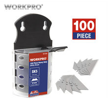 WORKPRO Original Blades Heavy Duty Blades for knife SK5 Steel Knife Blades 100PCS/Lot(China)