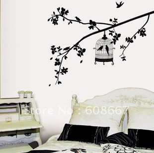 Stunning Free Shipping Wall Sticker Tree Branches Birds Home Decor Fashion  Mural Decal Art Wall Decor Decoration With Birds Home Decor.