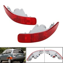 1Pair Car Red Rear Tail Fog Light Bumper For Mitsubish/Peugeot /Citroen 2007-2012 Brake