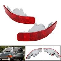 1Pair Car Red Rear Tail Fog Light Bumper For Mitsubish/Peugeot /Citroen 2007 2012 Brake Light