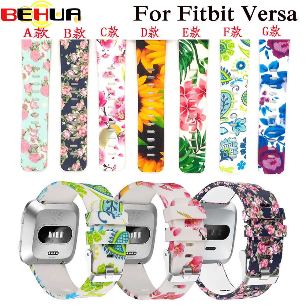 Fashion Soft Silicone Watch Band For Fitbit Versa Strap Wristband Watchband Strap For Fit Bit Versa Smartwatch Colorful Bracelet
