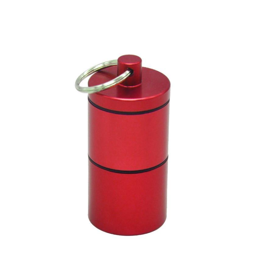Waterproof Aluminum Pill Box Case Bottle Cache Drug Holder Container Keychain Medicine Box Health Care