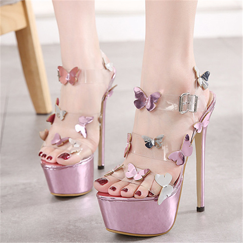 832e531de3ff0 Designer Shoes Women Luxury Gemstone Jeweled Gladiator Sandals Pvc Jelly  High Heels Woman Butterfly Ankle Strap Rhinestone Sanda-in High Heels from  Shoes on ...