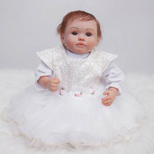 20″ doll reborn  Soft Body silicone vinyl dolls toys Best Gift For Girl Kid Girls Brinquedos bebe gift reborn realista