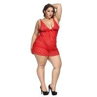 6XL плюс размеры женская ночная сорочка пикантные пижамы белье дамы сексуальное ночное платье кружево Babydolls Домашняя одежда see through