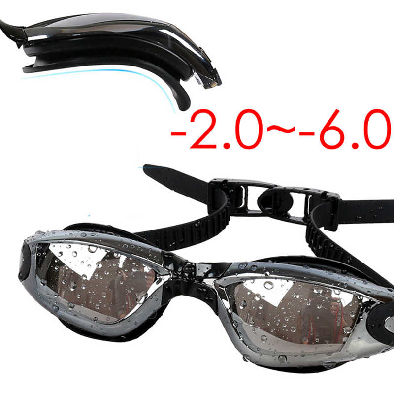 ad5a51829a5 Adult Prescription Optical Myopia -2.0~-6.0 Anti Fog Re-UV Swimming Goggles