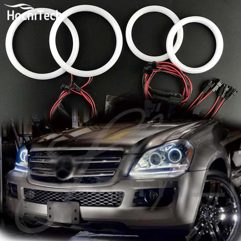 HochiTech leite branco SMD algodão tampa kit angel eyes o halo anel luz diurna DRL para Mercedes-Benz GL- classe X164 GL450 2007-2012