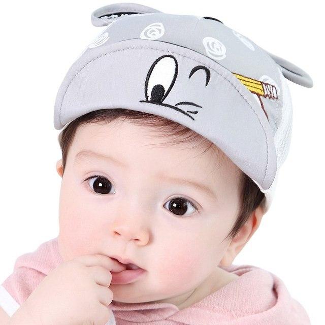 e2d67f2513d Spring Summer Baby Girls Caps Sun Hats Boy Children Cap Cute Plaid LH6s