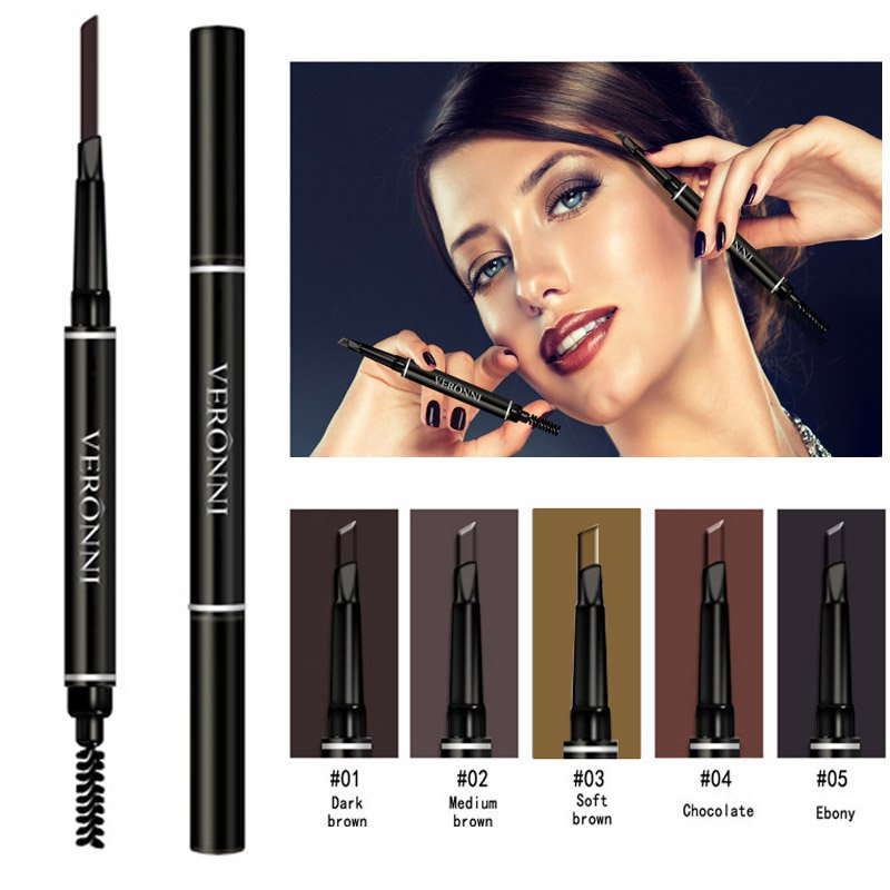Professional Women Eye Makeup Beauty Automatic Eyebrow Pencil Liner Eye Brow Pen with Brush Cosmetic Makeup Tools