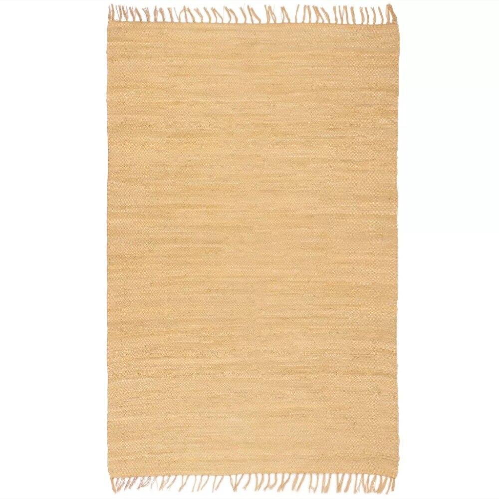 EHOMEBUY 2019 tapis Chindi tissé à la main tapis coton 80x160 cm Beige tapis Simple antidérapant tapis Style européen et américain