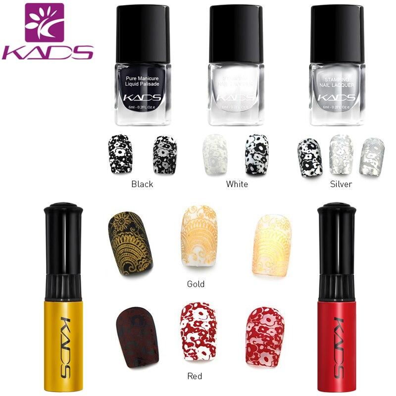 KADS Stamping nail art set Nail Art Stencils Stamping Template+Nail Stamp Polish+Stamper Scraper Set Tools Nail Art Template