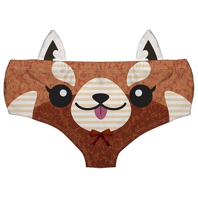 Detalle Comentarios Preguntas sobre NUEVO ESTILO DE LA MUJER 3D estampado  Animal lindo Ropa interior Calzoncillos oso zorro impresión lindo ropa  interior ... 1f76104f1586